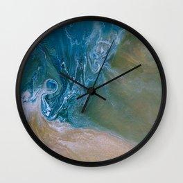 Oceanic swirl abstract Wall Clock