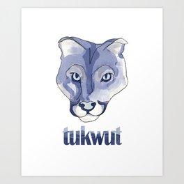 Watercolor Tukwut Art Print