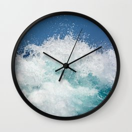 Crashing beautiful waves Wall Clock