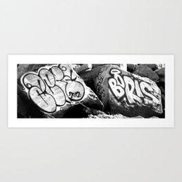 #Graffiti - Boris - Black & White Art Print
