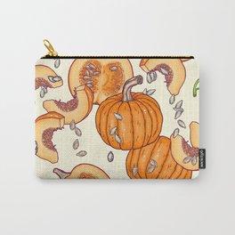 lucky autumn pumpkin pattern Carry-All Pouch