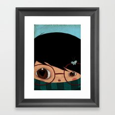 Blinking Framed Art Print