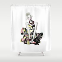 dress Shower Curtains featuring Colourful Dress by BeckiBoos
