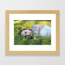 the queen of buttercups Framed Art Print
