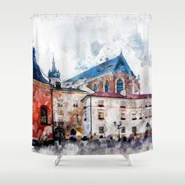 Cracow art 21 #cracow #krakow #city Shower Curtain