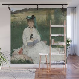 Reading by Berthe Morisot Wall Mural