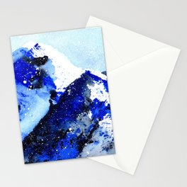 Semi-Abstract Watercolor Mountains Stationery Cards