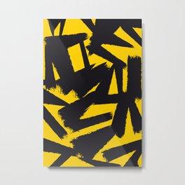 Amarelo Preto 01 Metal Print