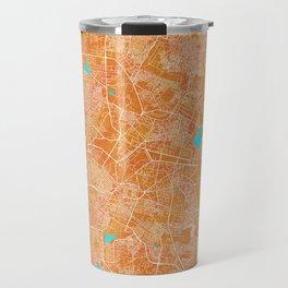 Bangalore, India, Gold, Blue, City, Map Travel Mug