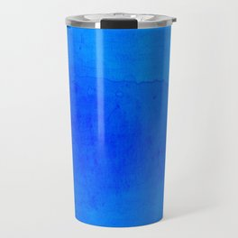 DARK BLUE WATERCOLOR BACKGROUND  Travel Mug