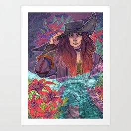 Pirate Lilies Art Print