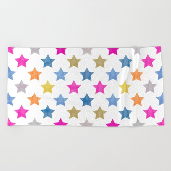 Colorful Star III Beach Towel