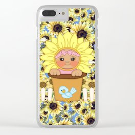Sunflower Baby Clear iPhone Case