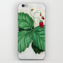 Strawberry Plant In the Garden iPhone Skin