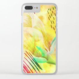 yellow flower xc Clear iPhone Case