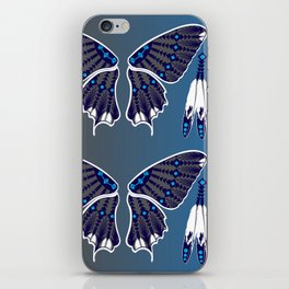 Butterfly Nation Blue iPhone Skin