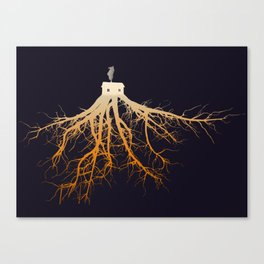 The Roots of Your Cabin Canvas Print