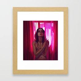 R e d r o o m Framed Art Print