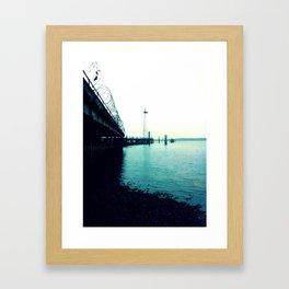The Dock. Framed Art Print