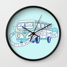 Let's Go Have Adventures My Love Wall Clock