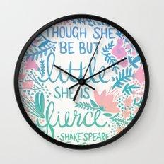 Little & Fierce – Lavender Mint Ombré Wall Clock