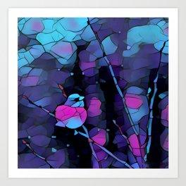 Junco Neon Pink Purple by CheyAnne Sexton Art Print