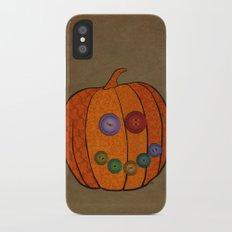 Patterned pumpkin  iPhone X Slim Case