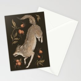 The Wolf and Rose Hips Stationery Cards
