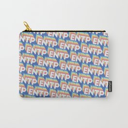 ENTP Trendy Rainbow Text Pattern (Blue) Carry-All Pouch