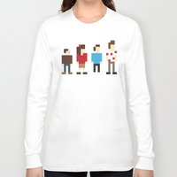 seinfeld Long Sleeve T-shirts featuring Pixel Seinfeld by Vectorific Design