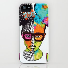Girl with Afro Puffs iPhone Case