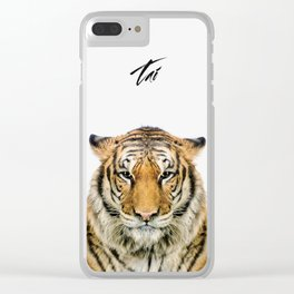 African Tiger Clear iPhone Case