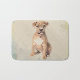 American staffordshire terrier puppy Sketch Paint Bath Mat