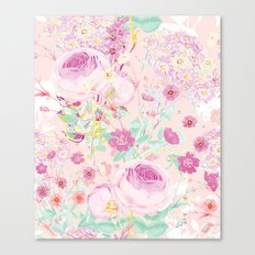 Flower bouquet in pink Canvas Print