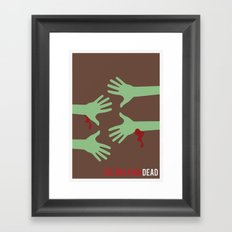 The Walking Dead - Minimalist Framed Art Print