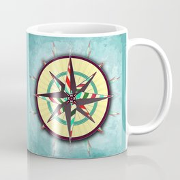 Striped Compass Rose Coffee Mug