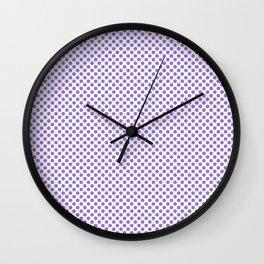Lilac Bush Polka Dots Wall Clock