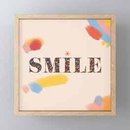 Smile Framed Mini Art Print