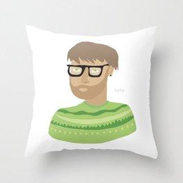 hiphip Throw Pillow
