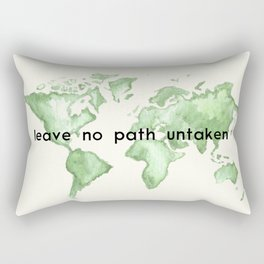 Leave No Path Untaken Rectangular Pillow