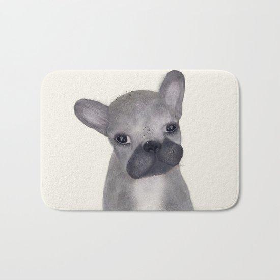 little french bulldog Bath Mat