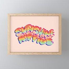 Sunshine Riptide in 3D Framed Mini Art Print