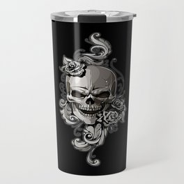 Skull and Rose Travel Mug