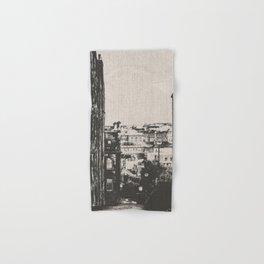 Edinburgh Scotland Blackn and White Hand & Bath Towel