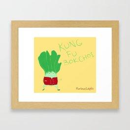 Kung Fu Bok Choy! Framed Art Print