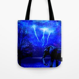 ELEPHANT LIGHTNING AND AFRICAN NIGHTS Tote Bag
