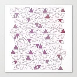 Tribal Triangles in Fuschia Canvas Print