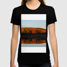 Autumn Sunset Reflection at the Moosehorn T-shirt