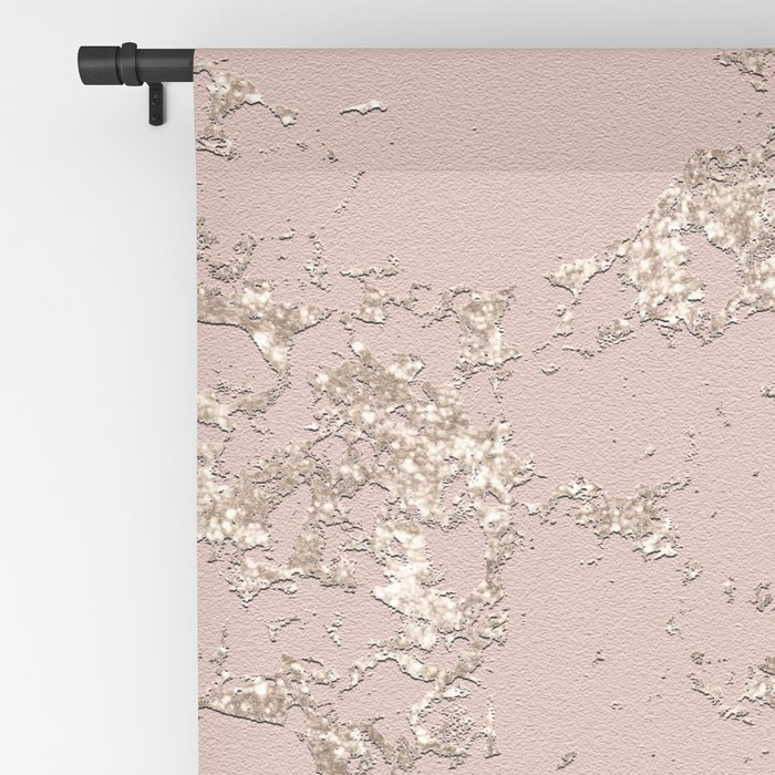 Blush Pink Marble Blackout Curtain