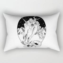 Unicorn skull of night Rectangular Pillow